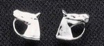 Exselle Platinum Plated Horse Head Earrings