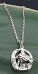 Exselle Platinum Plated Horsehead in Horseshoe Pendant