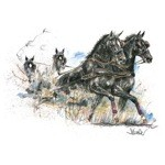 Maurizio Large Print (Driving Horse) by Jan Kunster