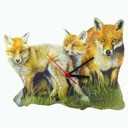 Fox Family Clock