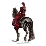 Mientje Print (Fresian Sidesaddle) by Jan Kunster