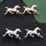 Exselle Platinum Plated Running Horse Earrings