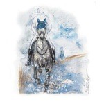 Sylt Large Print (Cross Country Horse) by Jan Kunster