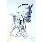 Traversalenstraum Print (Dressage) by Jan Kunster
