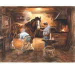 The Smithy Print (Blacksmith) by John Trickett